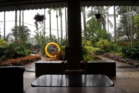 chikmagalur homestay portico with view