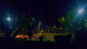 Chikmagalur resort playground at night